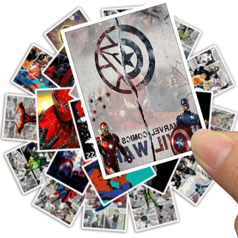25 Captain America for Motorcycle Graffiti Toy <font><b>Marvel</b></font> <font><b>Sticker</b></font>