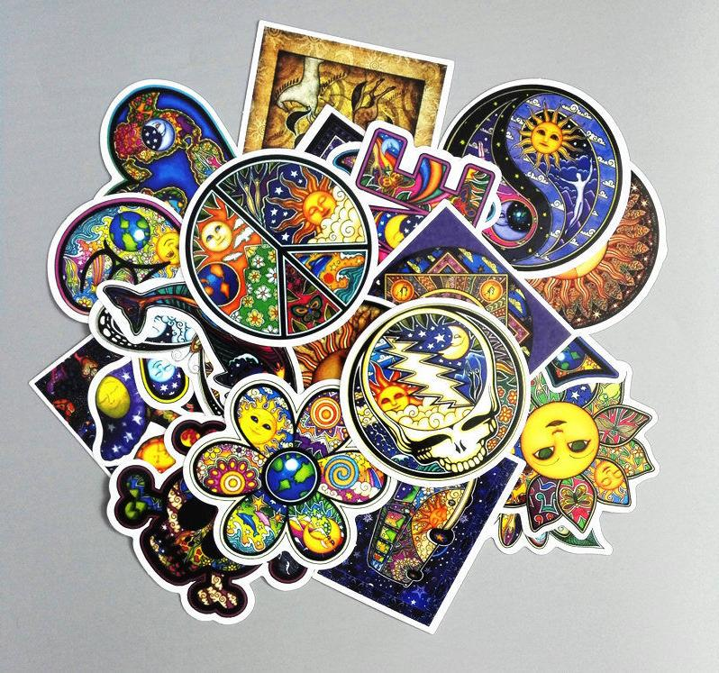 25Pcs Boho Style Stickers Hipster Hippie Bohemian Indie Lapt