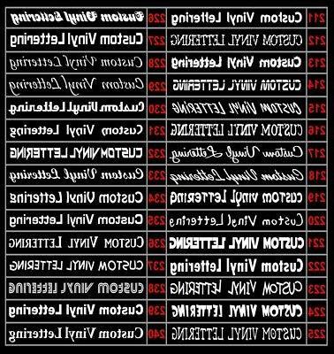 2x Custom Vinyl Sticker Text #3