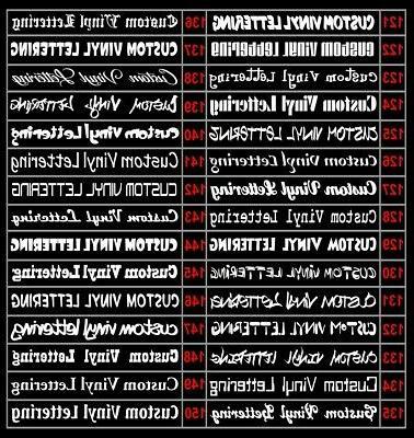 2x Sticker Lettering