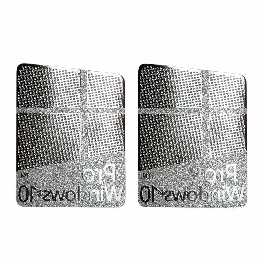 2x windows 10 pro sticker badge metal