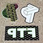 3 x FTP Laptop/Skateboard vinyl, Waterproof Stickers