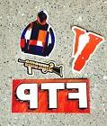 3 x FTP SUPREME VLONE Stickers PACK for Laptops, Lockers, Sk