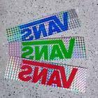 3 x Holographic VANS Stickers for Laptop/Skateboard vinyl, W