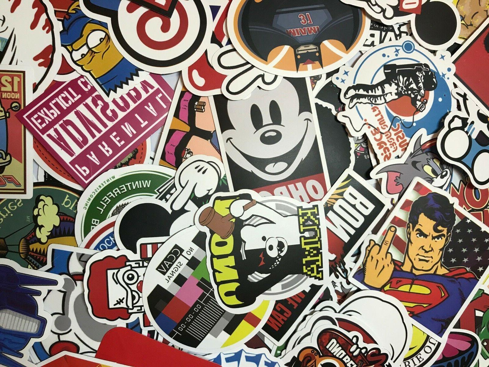 300 Vinyl Dope Sticker Lot Mix