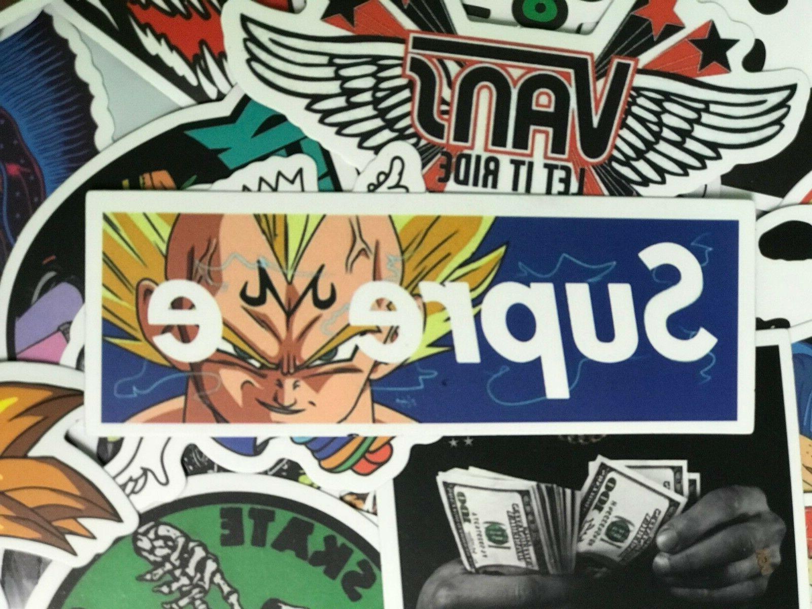 300 Skateboard Stickers Vinyl Dope Sticker Lot