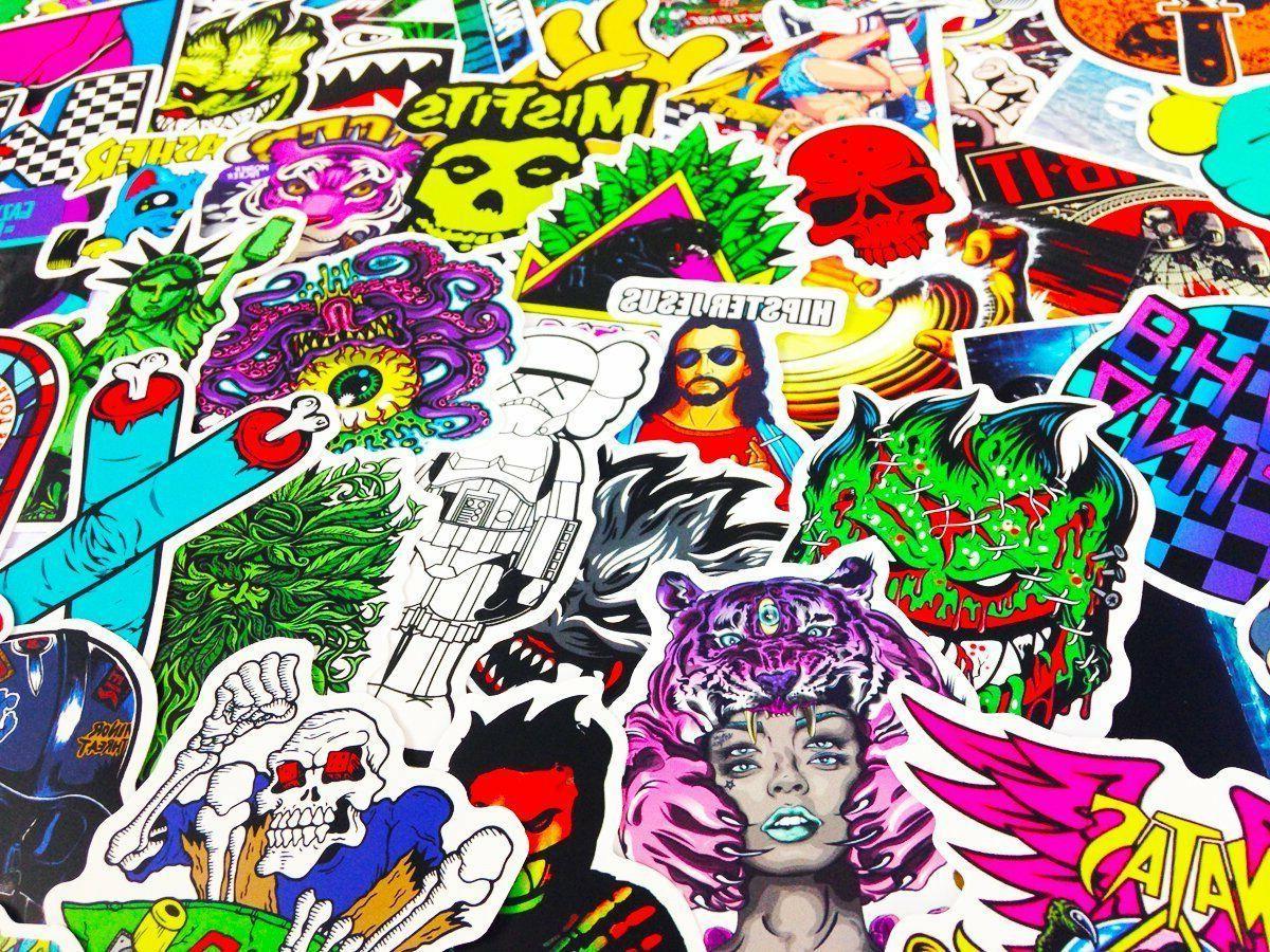 300 Random bomb Vinyl Decals Sticker