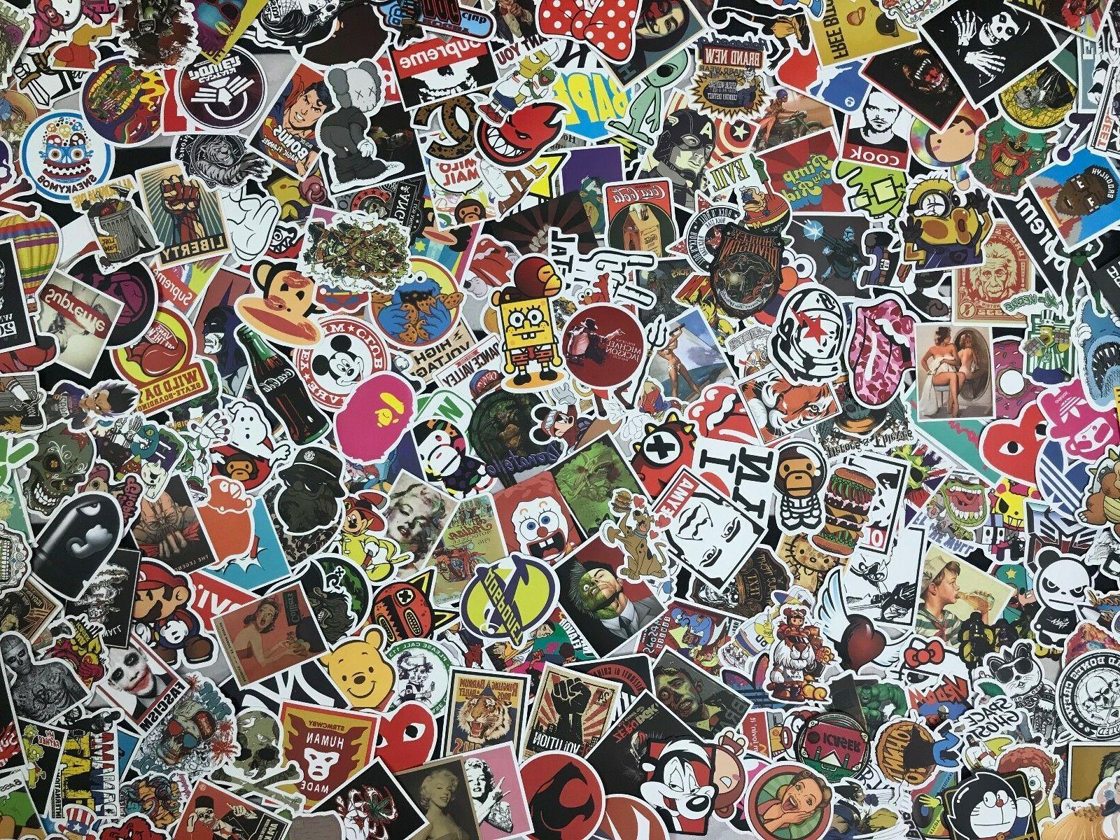 300 Sticker Decal Roll Skate Laptop