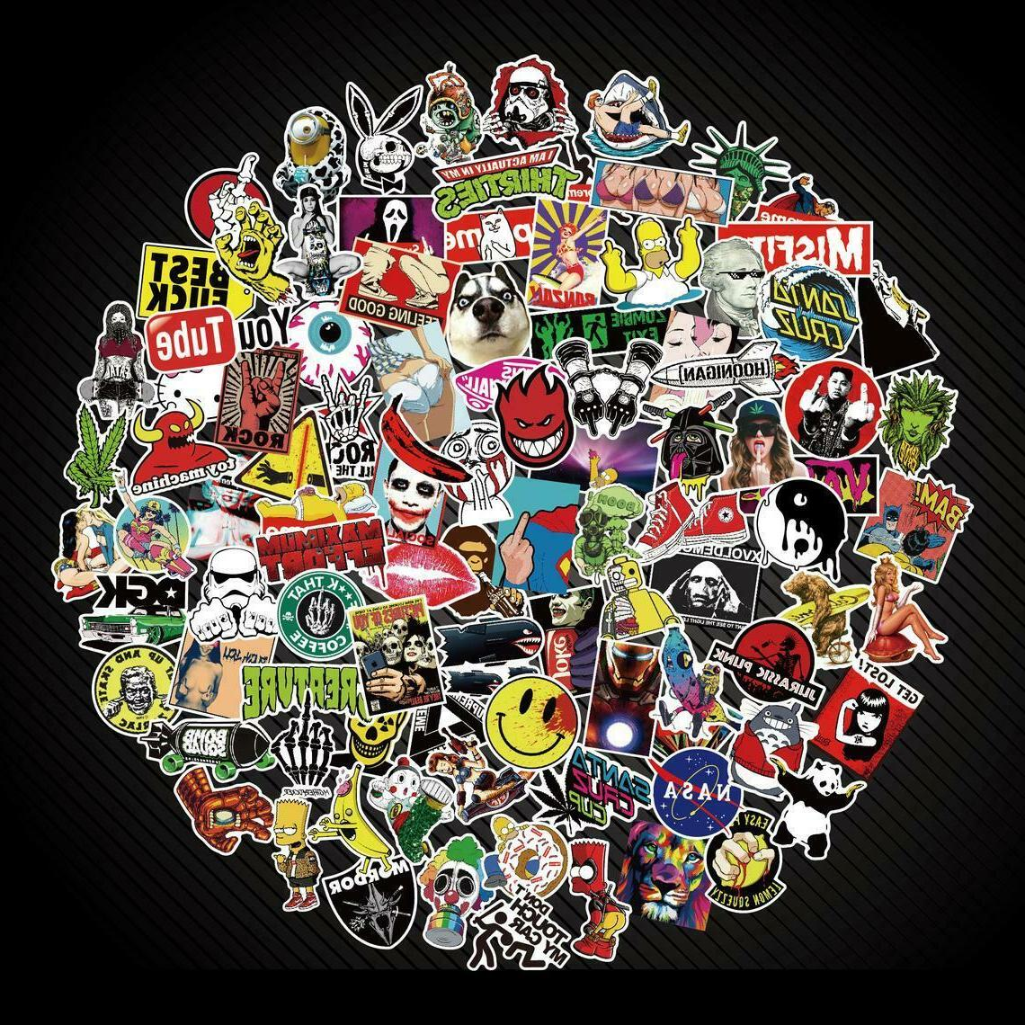300 Skateboard Stickers Bomb Vinyl Luggage Decals Dope