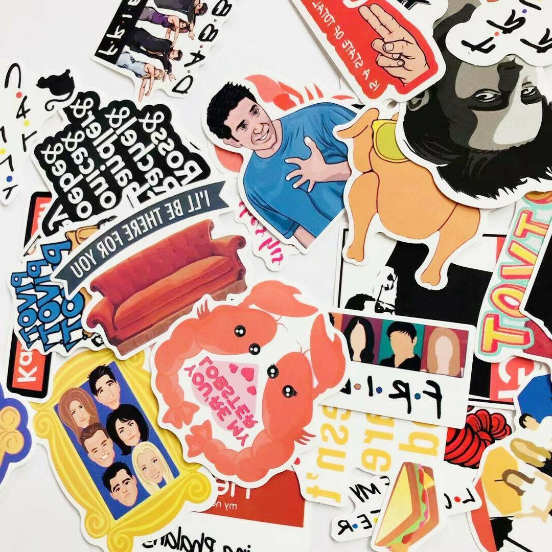 34Pcs Friends TV Show Waterproof Stickers Decal Scrapbooking