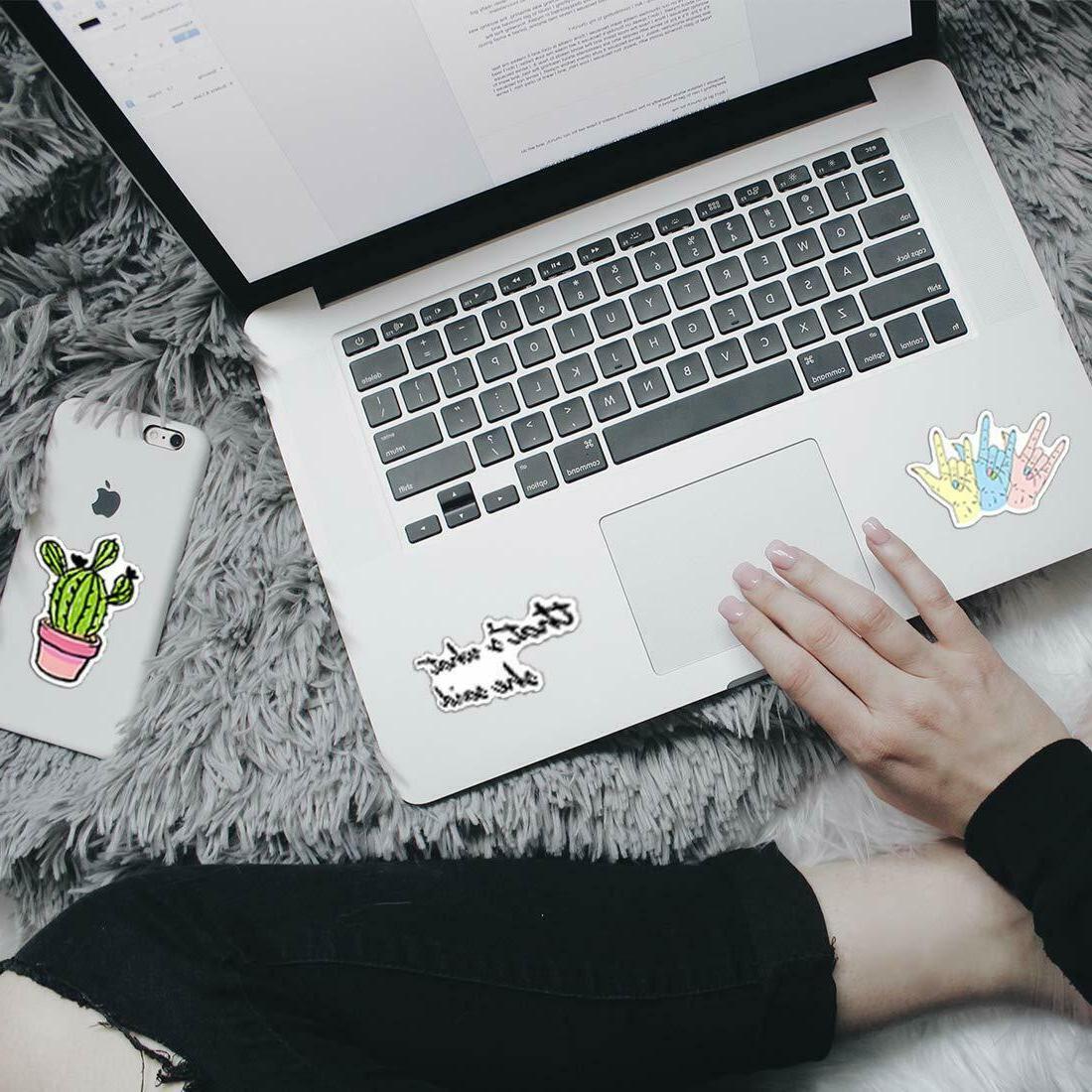 35 Pink Laptop Skateboard Stickers
