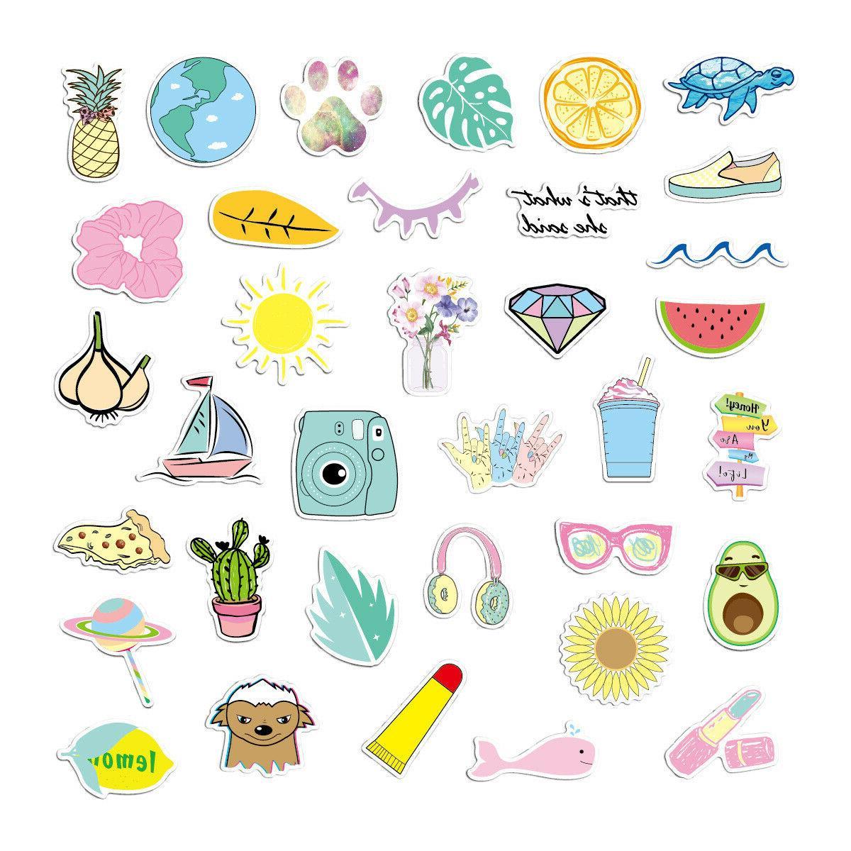 35 Pink Laptop Stickers