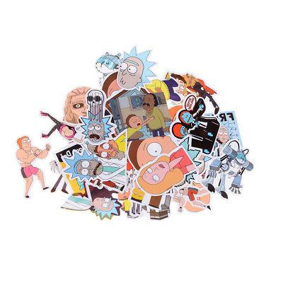 35Pcs and Morty Sticker Car Notebook