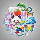 35pcs Geometric Animals Laptop Sticker Graffiti Luggage Skat