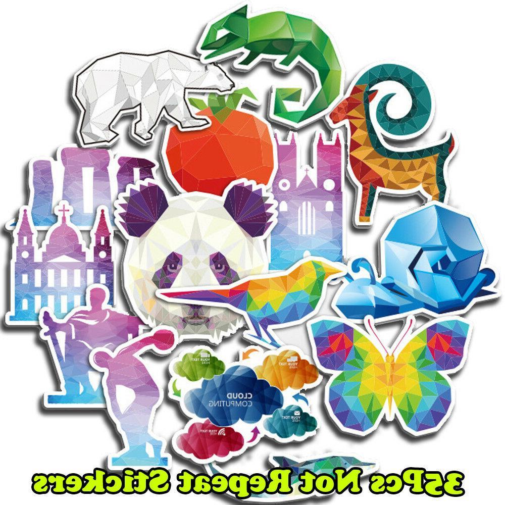 35pcs cool cartoon animals skateboard sticker graffiti