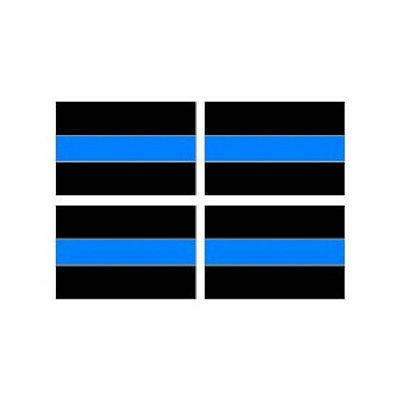 3pc thin blue line decal sheet of