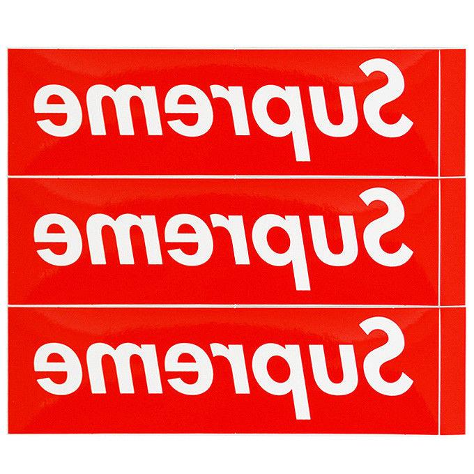 3x Supreme Box Logo Red Sticker Vinyl Decal Skateboard NYC B