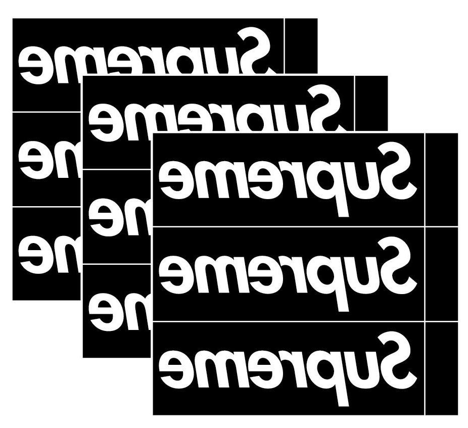 3x supreme box logo black sticker vinyl