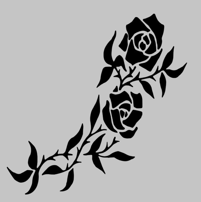 4 rose vinyl decal sticker car window