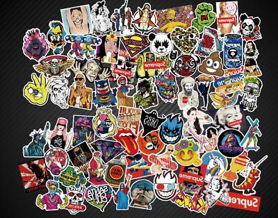 400 Random Skateboard Stickers Laptop Decals
