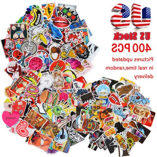 400 skateboard stickers bomb vinyl laptop luggage