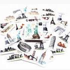 45 pc Stickers Vintage Travel Liberty London Big Ben Suitcas