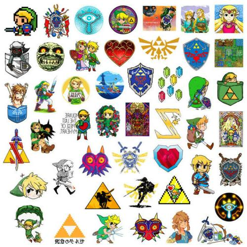 46Pcs The of Zelda Game Stickers Bomb Skateboard Luggage Laptop Lot