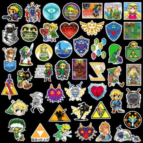 46Pcs The Legend Zelda Skateboard Luggage Lot