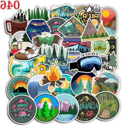 50 × Luggage Laptop Stickers Notebook