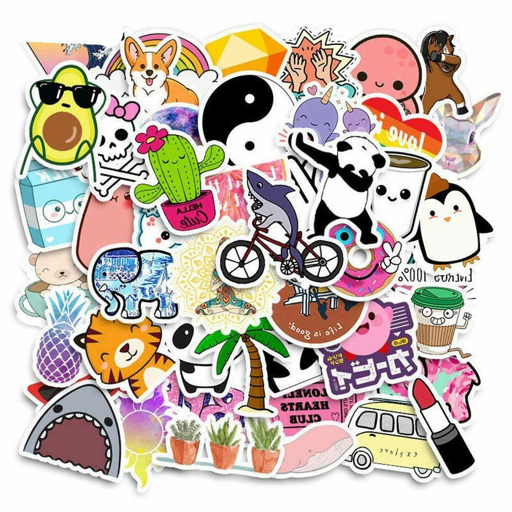 50 Cartoon Water Bottle Stickers