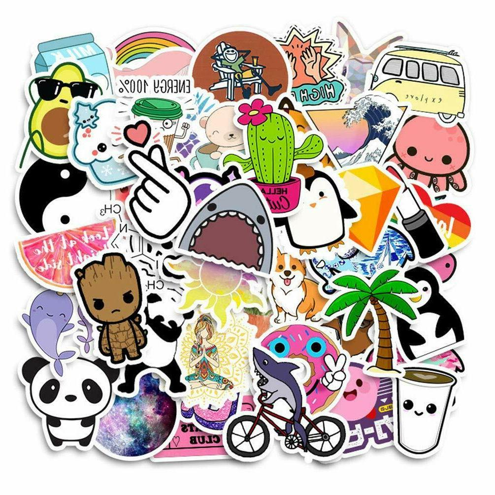 50 pcs cute cartoon water bottle stickers