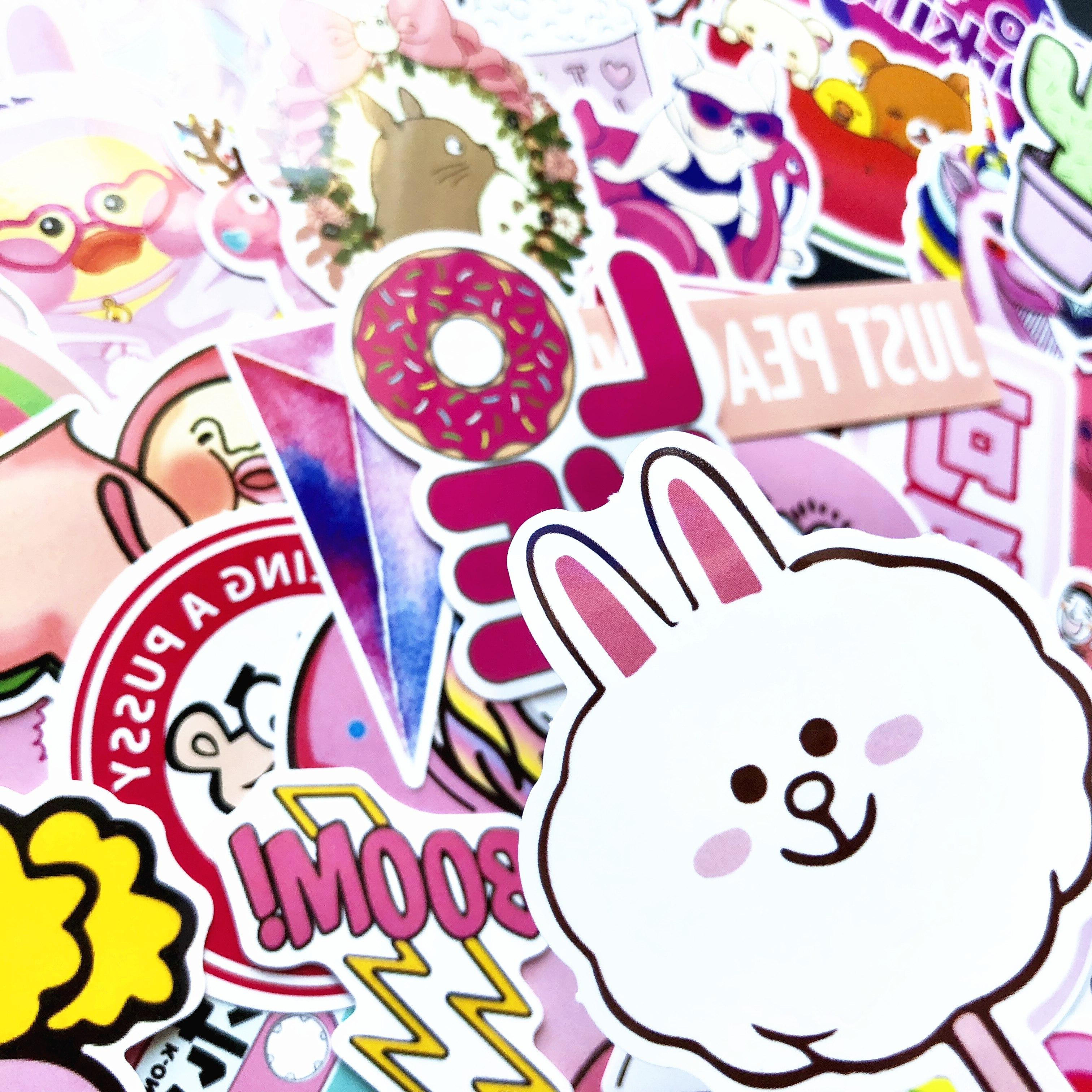 50 <font><b>Pink</b></font> Toys The Luggage <font><b>Stickers</b></font> For Suitcase Cool Fashion <font><b>stickers</b></font>