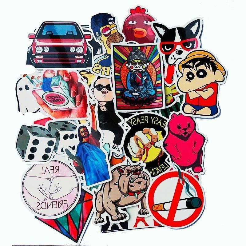 50 Vinyl Bomb Skate PVC Stickers