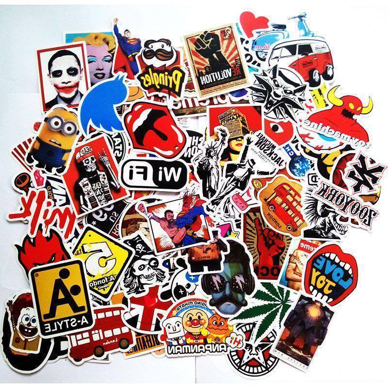 50 PCS Vinyl Decal Bomb Stickers