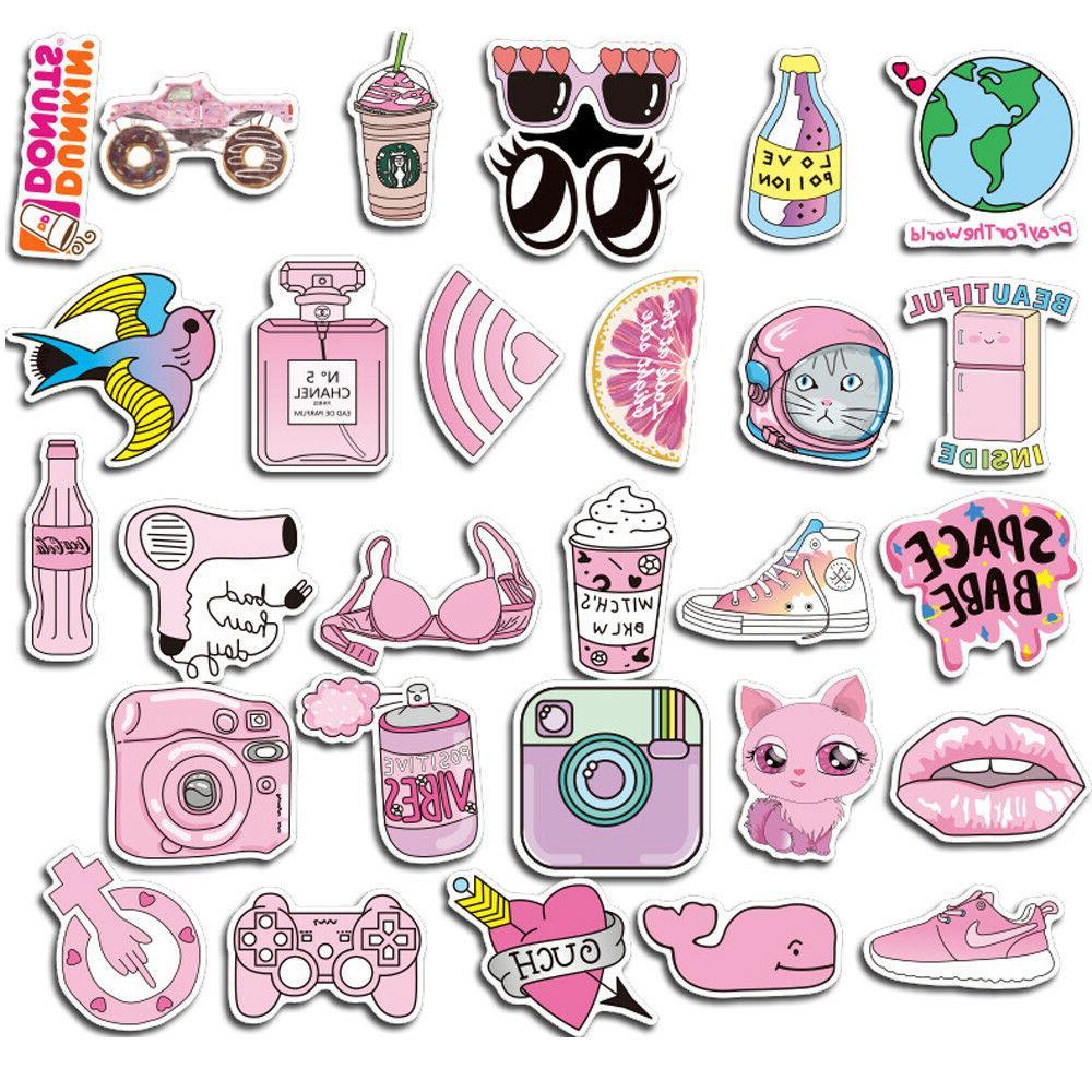 50 Pink Graffiti Luggage