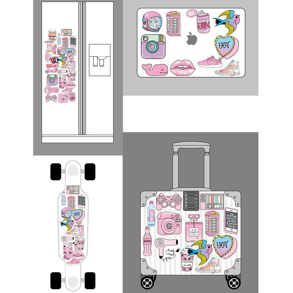 50 Girl Cartoon Graffiti Decals Luggage Guitar