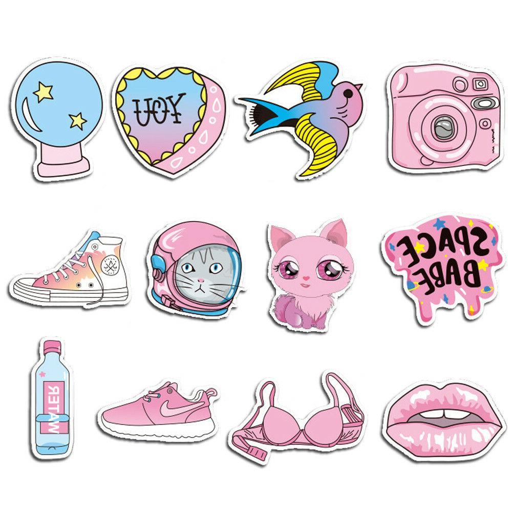 50 Girl Graffiti Skateboard Laptop Luggage