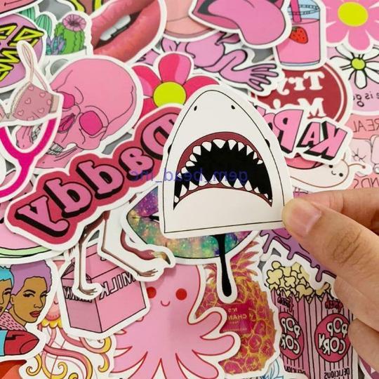 50 Pink VSCO Sticker Bomb Cute Water Vinyl