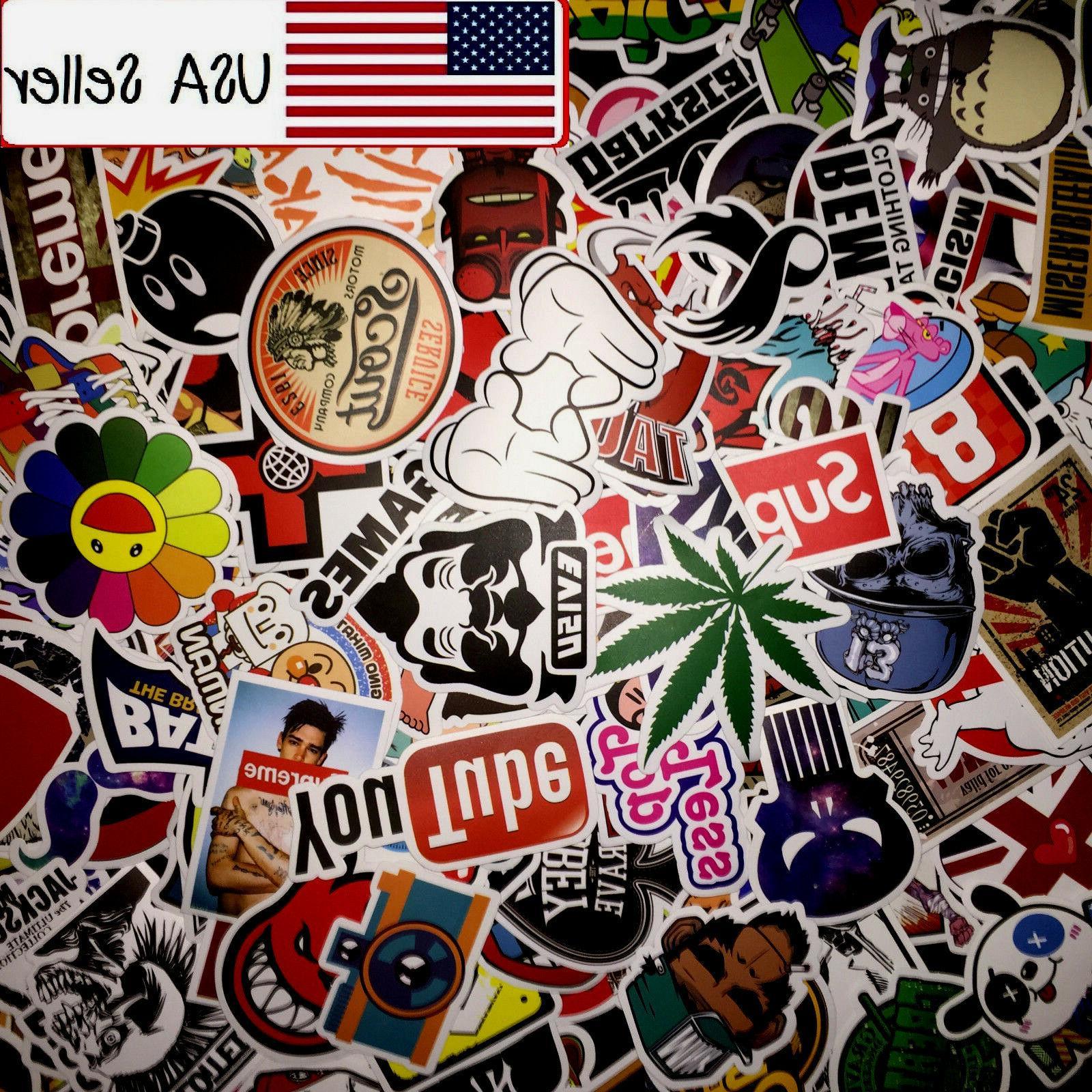 50 Random Skateboard Stickers Vinyl Laptop Luggage Decals Do