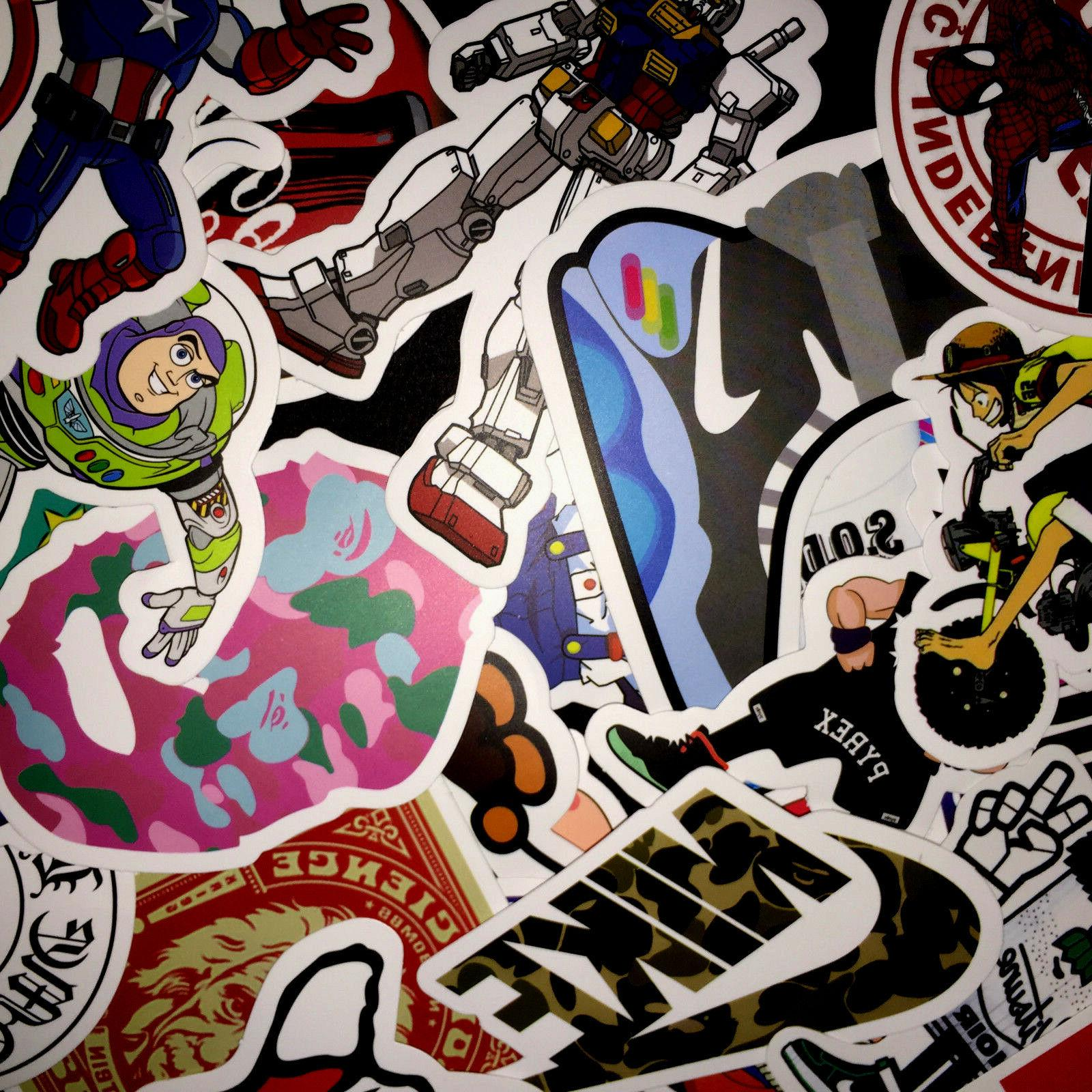 50 Vinyl Laptop Luggage Dope Sticker Lot