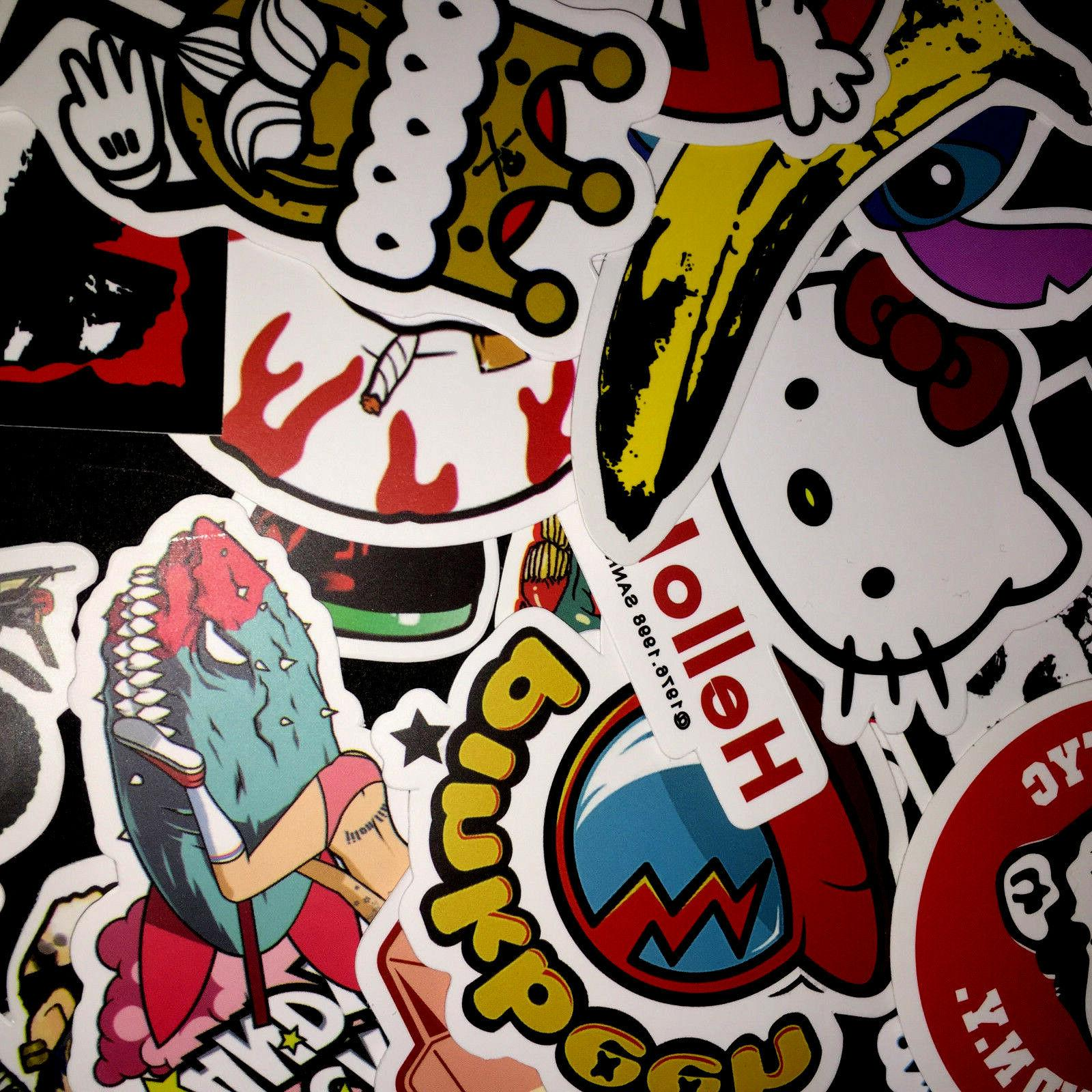 50 Skateboard Vinyl Dope Sticker