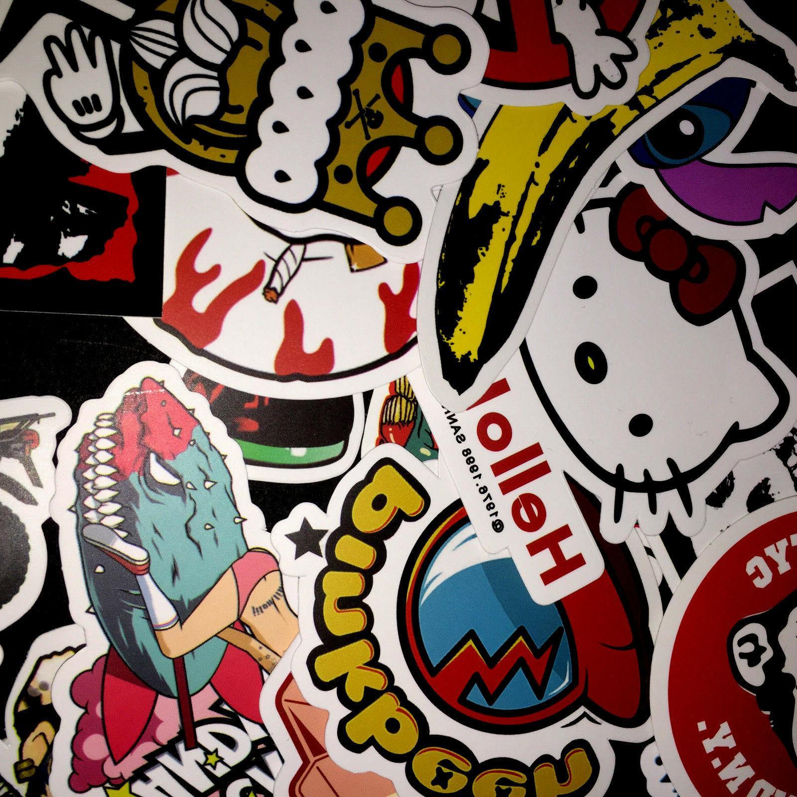 50 Skateboard Vinyl Dope Sticker