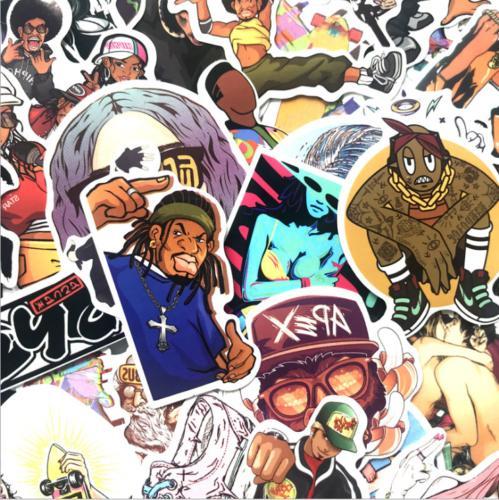 50 Stickers Hip Rock Metal Bands Laptop Bumper Sticker
