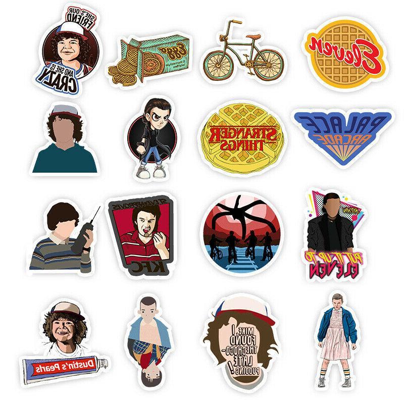 50 Stranger Skateboard Sticker Luggage