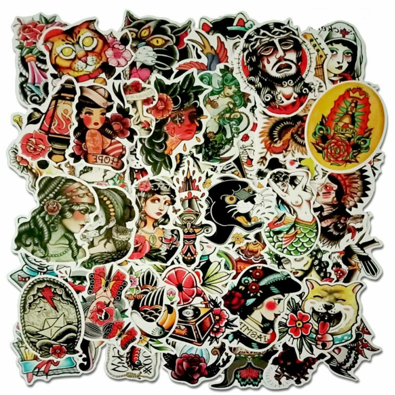 traditional tattoo sticker bomb pack tattoos laptop