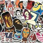 50Pcs Cool Vinyl Graffiti Stickers Skateboard Luggage Laptop