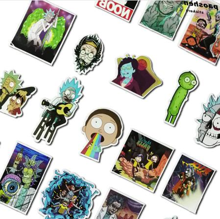 50Pcs/bag American Rick and Sticker Decal For Laptop