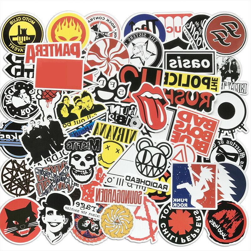 50pcs cool rock bands artists stickers bomb