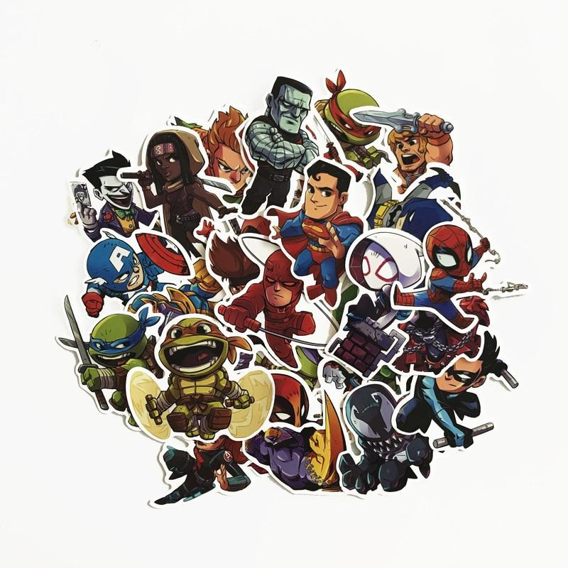 50Pcs Avengers Cartoon Laptop <font><b>Sticker</b></font> For Skateboard Guitar Furnitur Decal Toy <font><b>Stickers</b></font> Dropship