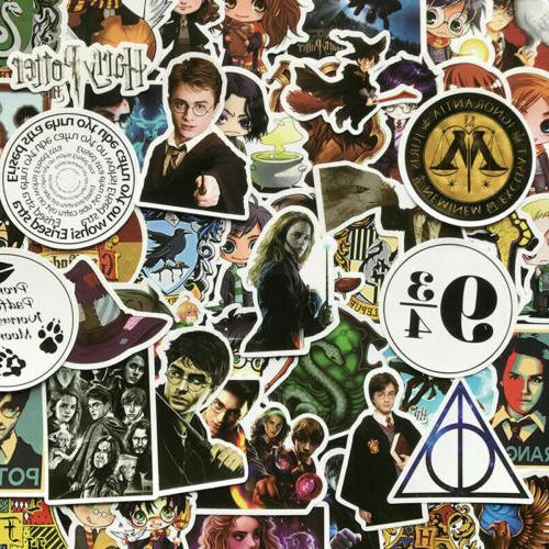 50Pcs Harry Potter Notebook Fantasy Wall Laptop Scrapbook De